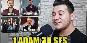 Oğuzhan Uğur'dan Vartolu'ya 1 Adam 30 Farklı Ses
