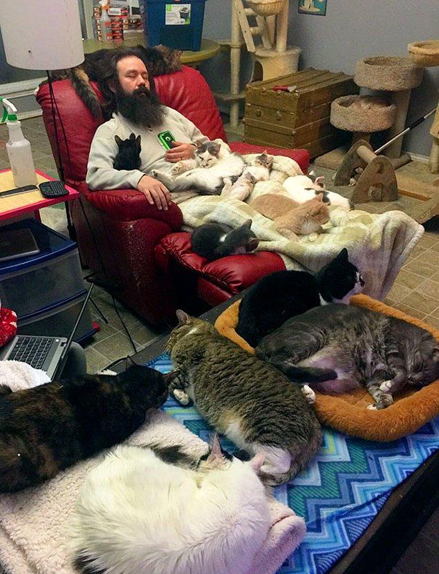 22. Kedi kurtarma ekibinde çalışmak bir fotoğrafla anlatılsaydı...