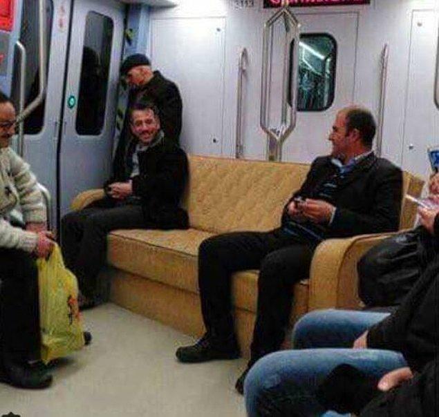 1. Ben metro koltuğunda oturamıyorum, kendi koltuğumu taşıyorum...
