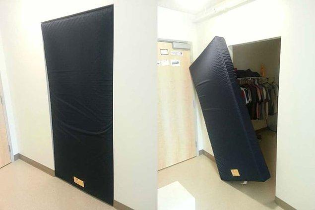 2. Kapı aralığının her bir noktasını doldurabilen yatak
