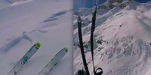 Kayak Yaparken Çığa Neden Olan Adamın Başarılı Bir Şekilde İşleyen Tehlikeden Kaçma Planı