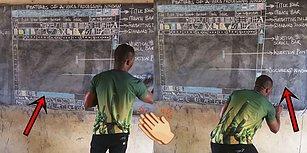 Gana'daki Köy Okulunun Bilgisayarı Olmadığı İçin 'Word' Programını Tahtaya Çizerek Öğreten Yürekli Öğretmen