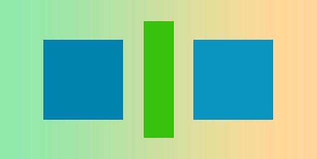 1. Sence bu iki kare farklı renkte mi?
