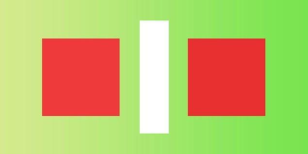 3. Sence bu iki kare farklı renkte mi?