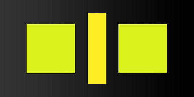 4. Sence bu iki kare farklı renkte mi?