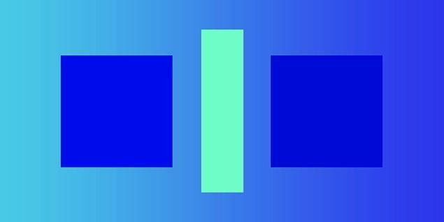 6. Sence bu iki kare farklı renkte mi?