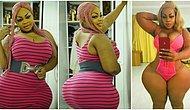 Estetik Yok, Photoshop Yok! 153 Santimetrelik Doğal Kalçalarıyla Afrika'nın Kim Kardashian'ı!