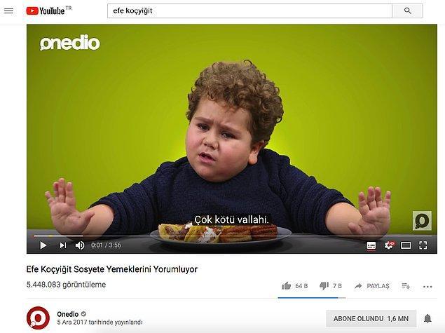 """İnceleme: Konuğumuz Efe :) Video Başlığında da Youtube'da Çok Arananlar Arasında Yer Alan """"Efe Koçyiğit"""" Girilmiş. Sadece Bu Yeterli mi?"""
