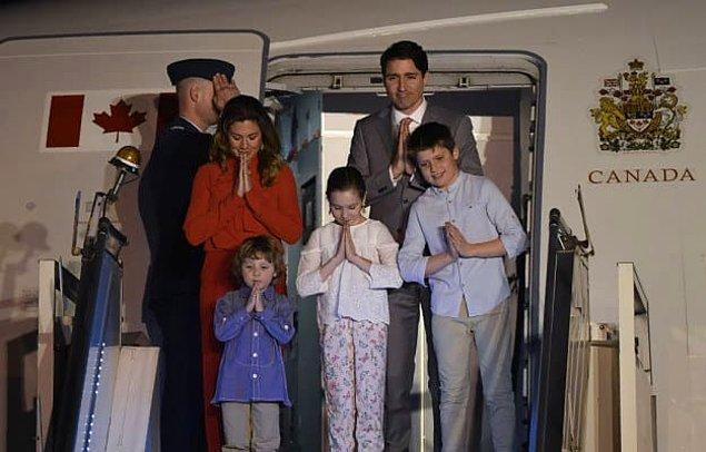 Justin Trudeau ve ailesi geçen hafta Hindistan'da harika vakit geçirdiler. 😊