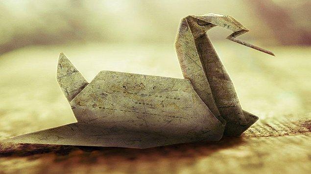 3. Bakalım bu origamiyi görür görmez doğru yanıta gidebilecek misin...