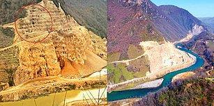 2100 Yıllık Kibele Heykeli Bulunmuştu! Mahkeme Kararını Hiçe Sayan Taşocağı, Ordu'daki Kurul Kalesi'nin Kaya Mezarlarını Yok Etti