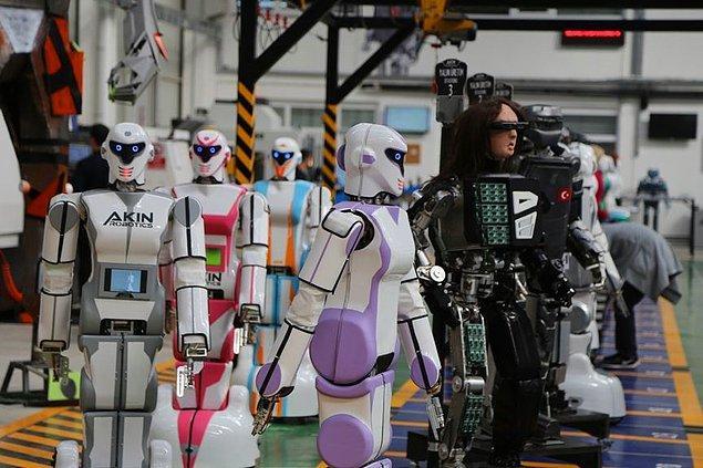 Hayatın her alanına girmeye başlayan robotlar sivil ve askeri alanda da kullanılabilecek.
