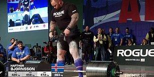 Game of Thrones'un 'Dağ'ı Hafthor Bjornsson 472 Kilo Kaldırarak Rekor Kırdı!