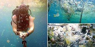 Plastikle Yok Olan Bir Okyanus! İngiliz Dalgıcın Bali Kıyılarında Çektiği Çarpıcı Görüntüler