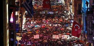 'Birlikte Güçlüyüz' Dediler: Binlerce Kadın Taksim'de Şiddet ve İstismara Karşı Yürüdü