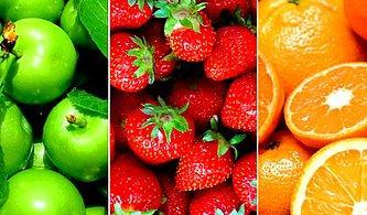 Bu Meyvelerden Yediklerini Seç, Sana Meyve Aşığı Olup Olmadığı Söyleyelim!