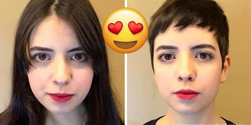 Uzun Saçlarını Kestiren Kadının Değişimi 52