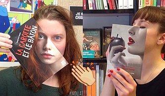 Kitap Kapaklarını İnsan Yüzleriyle Hizalayıp Birbirinden Havalı Portreler Yaratan Kitapçı