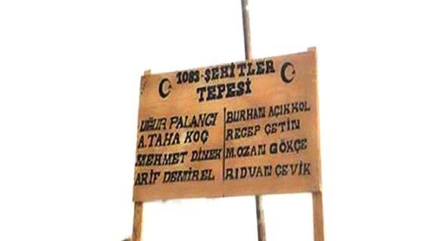 Afrin'de 'Kel' adıyla anılan 1083 rakımlı tepeye teröristlerden temizlendikten sonra 'Şehit Tepesi' ismi verilmişti.