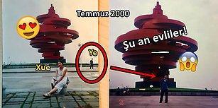 Tesadüfün Böylesi: Eşinin 18 Yıl Önce Tatilde Çektirdiği Fotoğrafta Kendisini Gören Çinli Adam