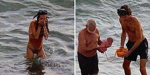 Hayata Gözlerini Denizde Açmak! Rus Turist Kızıldeniz'de Doğum Yaptı