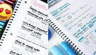 Görünce Yeniden Öğrenci Olup Her Gün Yazı Yazmak İsteyeceğiniz 16 Nefes Kesici Ders Notu 😍