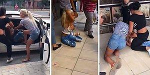 Erkek Arkadaşıyla Görüşen Kadını Dövüp Bir Yandan da Kameraya Alan Kadınlar