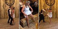 Bir Anda Kick Boks'a Dönüşen Gelin ve Damadın Düğün Dansı