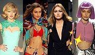İkonik Yürüyüşü ve Sıkça Eleştirilen Vücudu ile Yüksek Modanın Vazgeçemediği Süpermodel Gigi Hadid'in Podyum Evrimi!