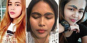 Daha Ucuz Diye Deneyimsiz Dövme Sanatçısına Kaşlarını Emanet Eden Kadının Dramı!