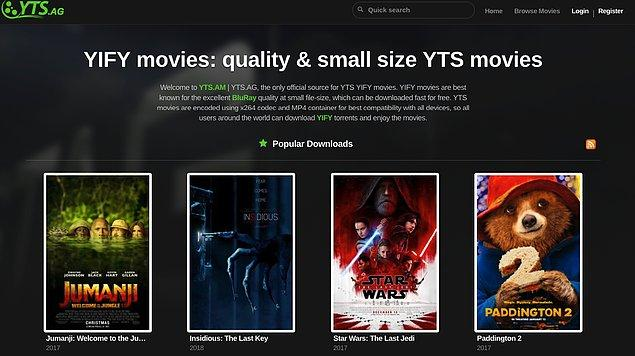 1. YIFY Movies
