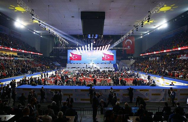 Kurultay Ankara Spor Salonu'nda gerçekleştirildi.