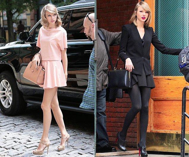 Siyah tutkunlarındansanız siz de Taylor Swift'in tamamen siyah stiliyle baharın rengarenk cümbüşüne meydan okuyabilirsiniz.