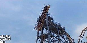 Dünyanın En Korkunç Roller Coaster'ı Olabilir: 90 Derecelik Açıyla Yüreklerin Ağza Geldiği O An!