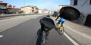 İman Gücü Sayesinde Katlanır Bisikletiyle Profesyonel Bisikletçileri Geçen Papaz
