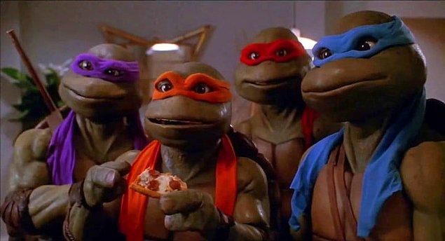 3. Dünyanın en güzel pizzalarını yiyen, dövüşçü yeşil hayvanlar: Ninja Kablumbağalar