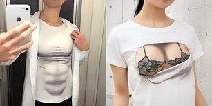 Her Zaman İstediğiniz Karın Kaslarına ve Dolgun Memelere Sahip Olmanızı Sağlayan Japon Tasarımı Tişörtler