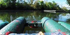 Online Olarak İnsanların Kontrol Edebildiği Nehir Çöpü Temizleme Robotu