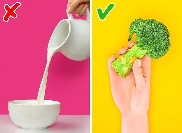 8. Sadece süt ürünlerinde kalsiyum vardır.
