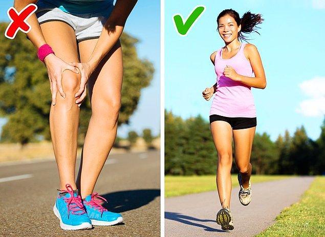 10. Koşmak diz ve bileklere zarar verir.