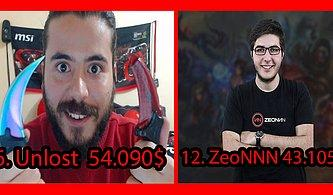 Counter Strike Zenginleri: En Pahalı CS GO Eşyalarına Sahip 20 Steam Hesabı