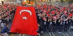 Tüyler Diken Diken! Hep Bir Ağızdan 'Atatürk Çocukları' Marşını Söyleyen Öğrenciler