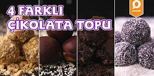 İçinizdeki Tatlı Canavarını Sakinleştirecek 4 Farklı Çikolata Topu Nasıl Yapılır?