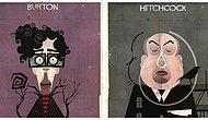 Federico Babina'nın Efsane Yönetmenleri Yine Kendi Filmleriyle Ölümsüzleştirdiği 31 Efsane İllustrasyon