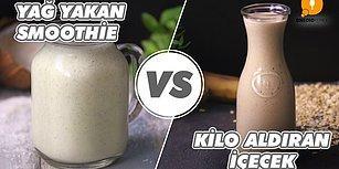 Sağlıklı İçecek Savaşında Zirvenin Sahipleri: Yağ Yakan Smoothie vs Kilo Aldıran İçecek
