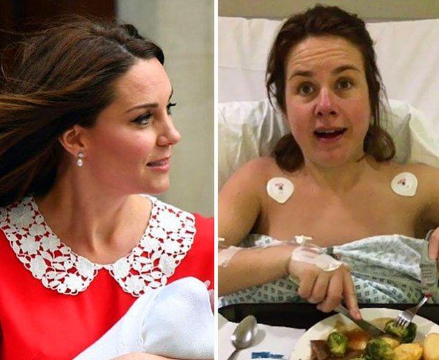 """""""Kate ve benim doğumdan 7 saat sonraki halimiz. Sağdaki benim eğer anlamadıysanız."""""""