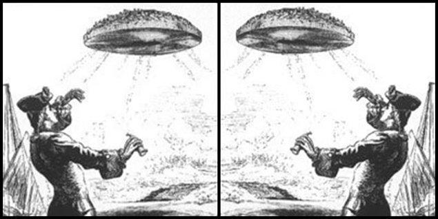 13. 1752'de Voltaire tarafından yazılan felsefi roman Micromégas'ta günümüzdeki UFO tasvirleriyle birebir aynı çizimler yapılmış. Romanın gerçek deneyimlerden esinlenerek kurgulandığını söyleyen Voltaire'in bu çizimlerindeki gizem hâlâ çözülemedi.