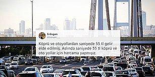 Saniyede 55 Lira: Köprü ve Otoyolları Kullanan Araçlar 3 Ayda 424 Milyon Lira Geçiş Ücreti Ödedi