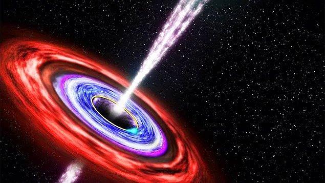 Kara deliğin Dünya'yı yutması (Oran: 1'e 125)