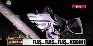 Eşini 'Şaka' Olsun Diye Trafikte Sıkıştıran Rahatsız Adam Arabaya Takla Attırdı